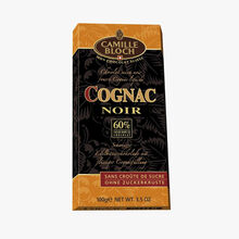 Chocolat suisse noir fourré cognac liquide Camille Bloch