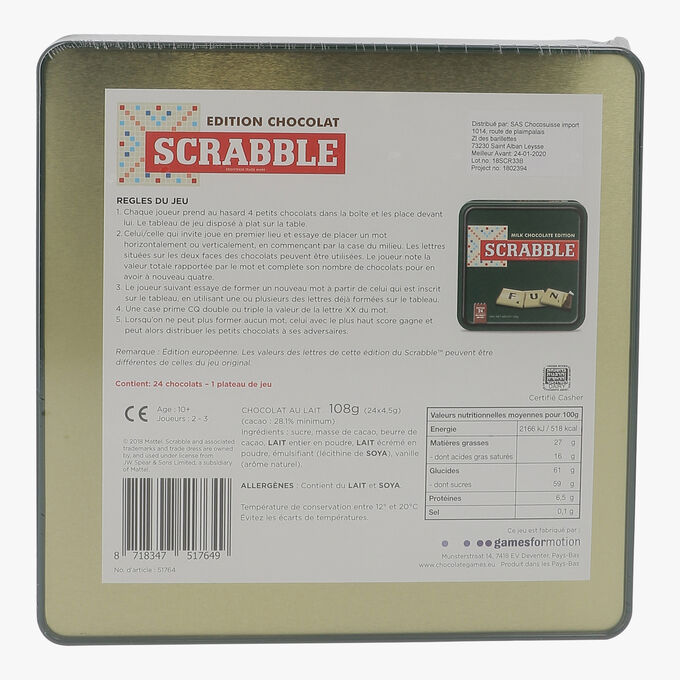 Chocolate Scrabble   Chocosuisse