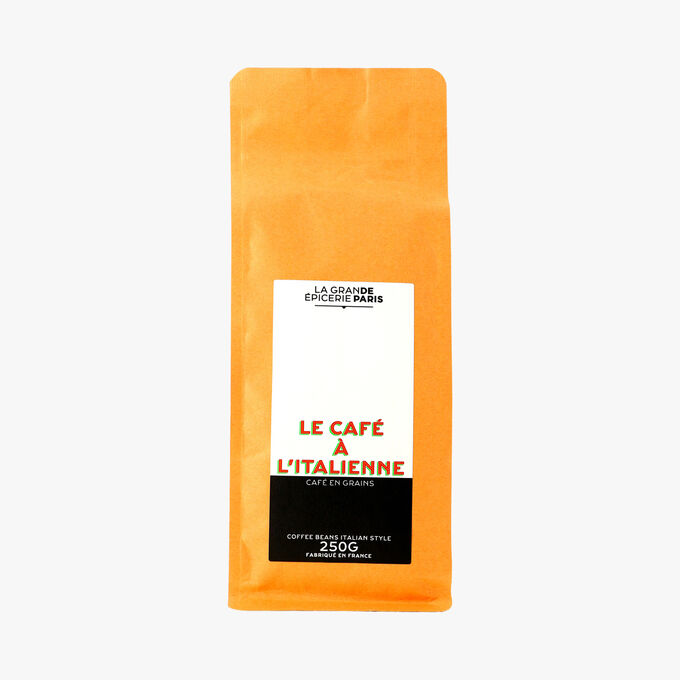 Le café à l'italienne, café en grains La Grande Épicerie de Paris