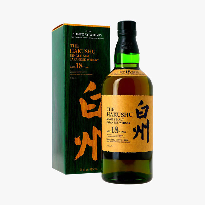 Whisky The Hakushu, 18 ans d'âge Suntory