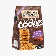 Petits cookies au chocolat au lait et au chocolat noir Michel et Augustin