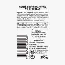 Petits fours marbrés au chocolat La Grande Épicerie de Paris