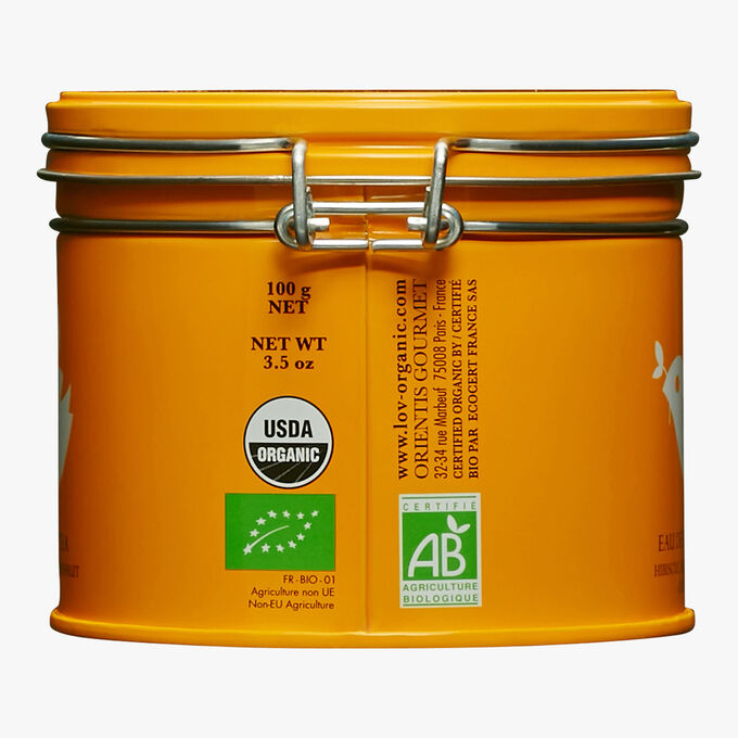 Citrus Fruit Water, metal tin Lov Organic