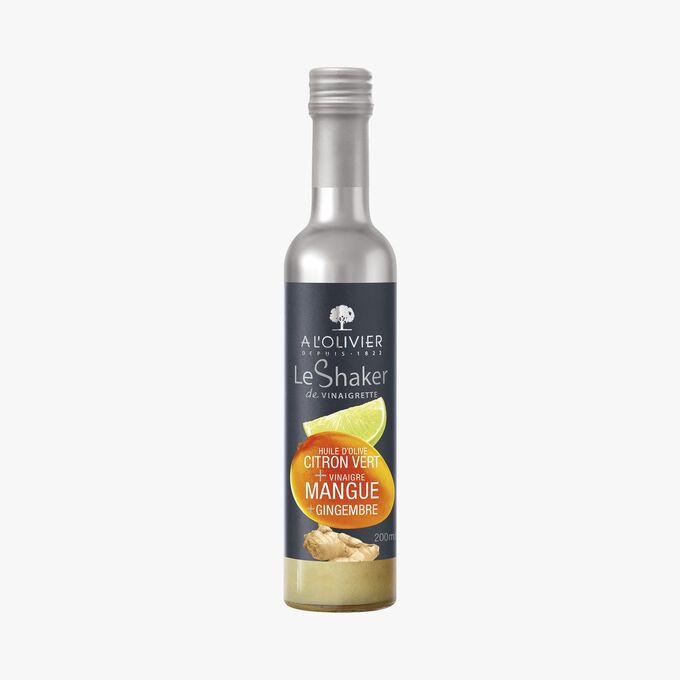 Vinaigrette with lime olive oil and mango and ginger vinegar A l'Olivier