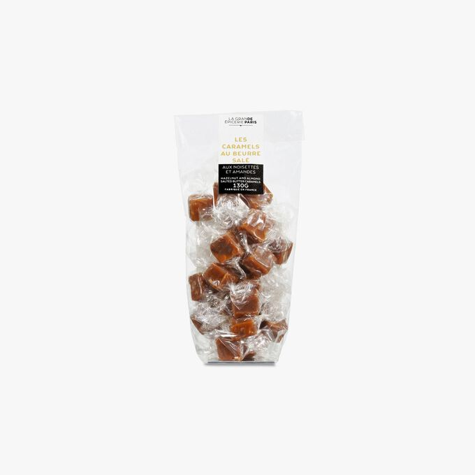 Packet of semi-salted butter caramels with hazelnuts and almonds La Grande Épicerie de Paris