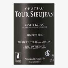 Château Tour Sieujean, AOC Pauillac, 2012 Château Tour Sieujean