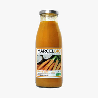 Organic carrot, orange and ginger soup Marcel Bio