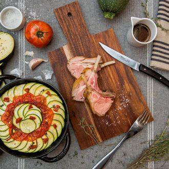 Carré d'agneau, tian de légumes à la provençale, , hi-res title=Carré d'agneau, tian de légumes à la provençale,