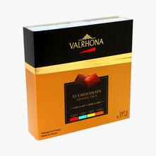 Coffret 52 chocolats grands crus noir & lait Valrhona