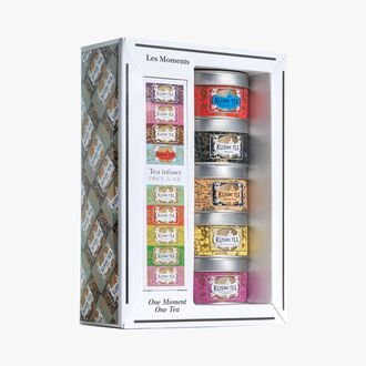 One Moment, One Tea gift set, 5 metal tins Kusmi Tea