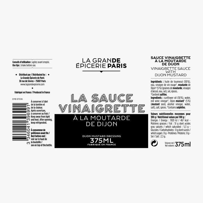 Sauce vinaigrette à la moutarde de Dijon La Grande Épicerie de Paris