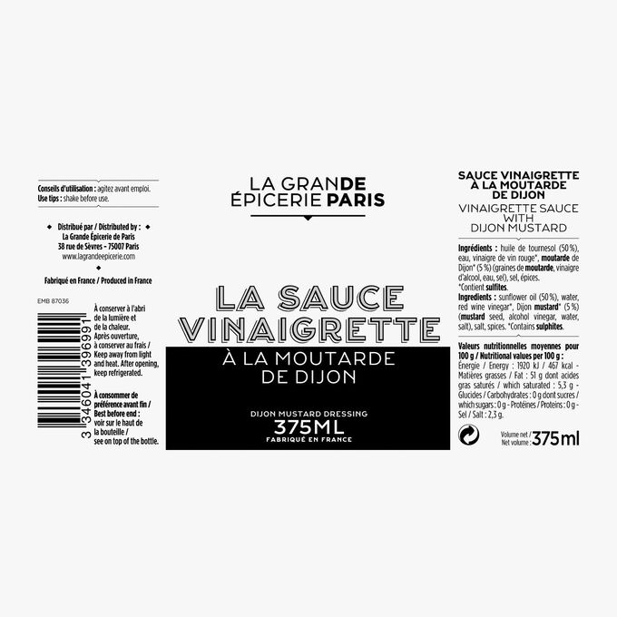 Dijon vinaigrette La Grande Épicerie de Paris