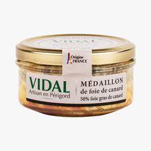Médaillon foie gras de canard, 50% foie gras de canard Vidal