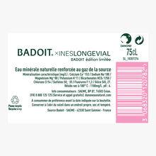 Badoit X Inès Longevial en Edition Limitée Evian Badoit