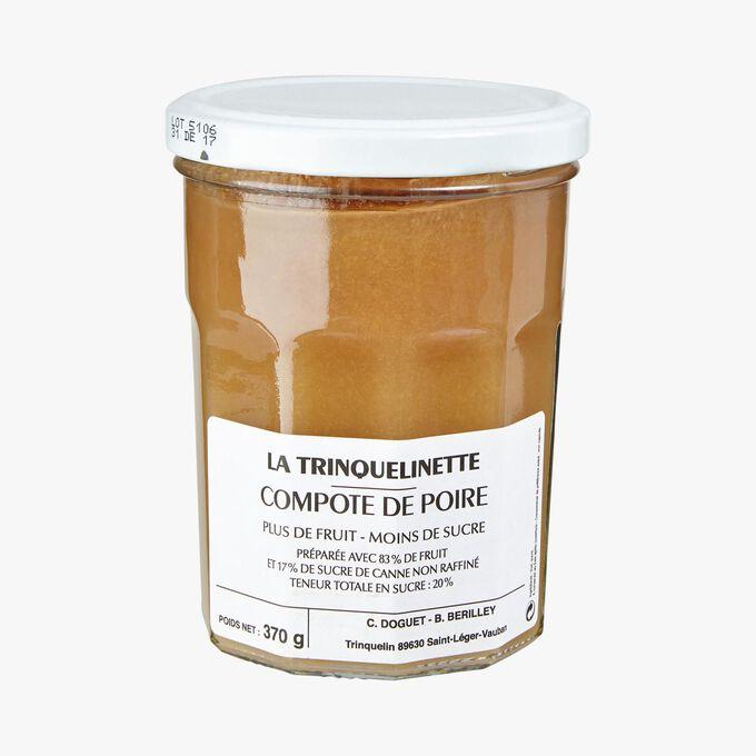 Compote de poire La Trinquelinette