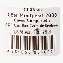 Château Côte Montpezat, AOC Côtes de Bordeaux Castillon, Compostelle, 2008 Château Côte Montpezat