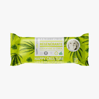 Raw hemp and chia bar Happy Crulture
