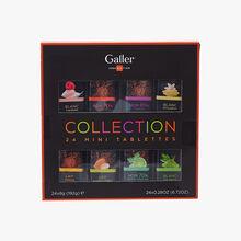 Collection 24 mini tablettes de chocolat Galler