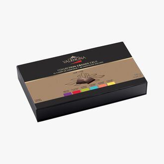 Coffret Collection Grands Crus, 66 carrés de chocolat Valrhona