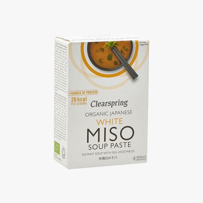 Soupe concentrée instantanée au miso blanc biologique Clearspring