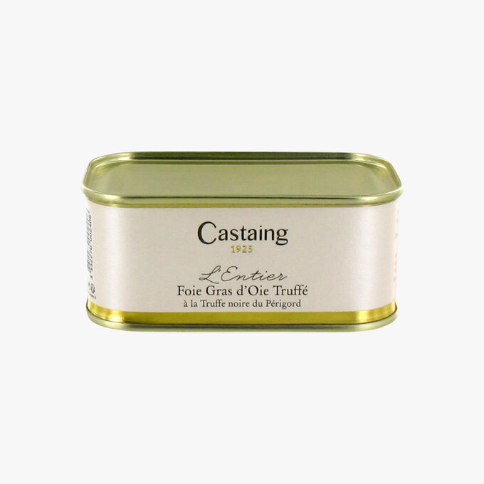L'entier Foie gras d'oie truffé à la truffe noire du Périgord Castaing