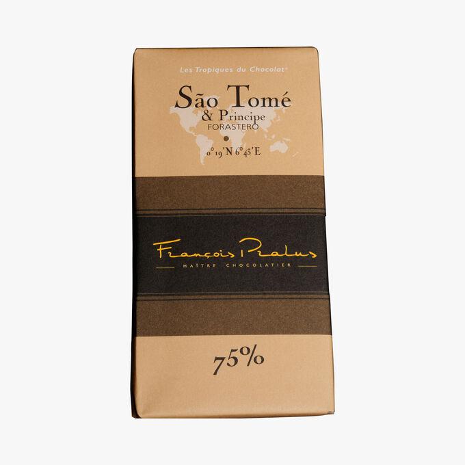 Tablette Chocolat Sao Tomé et Principe 75% Pralus