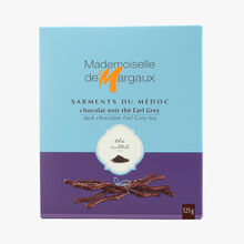 Dark chocolate twigs flavoured with bergamot tea  Mademoiselle de Margaux