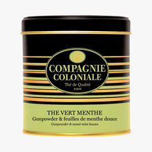 Green tea with mint - Gunpowder & mild mint leaf Compagnie Coloniale