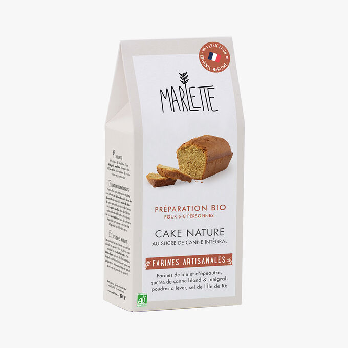 Préparation bio pour cake nature au sucre de canne intégral Marlette
