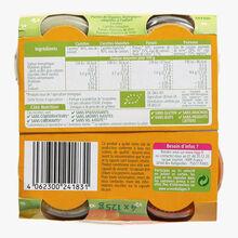 4 Pots de purée de légumes biologiques adaptées à l'enfant HiPP