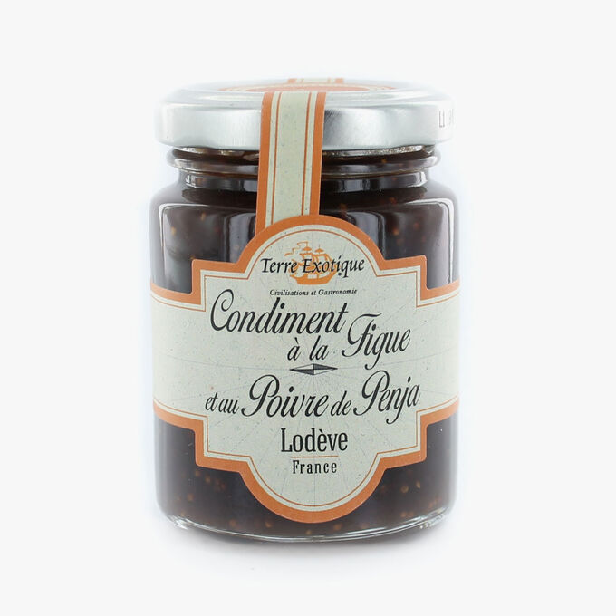 Fig and Penja pepper condiment Terre Exotique