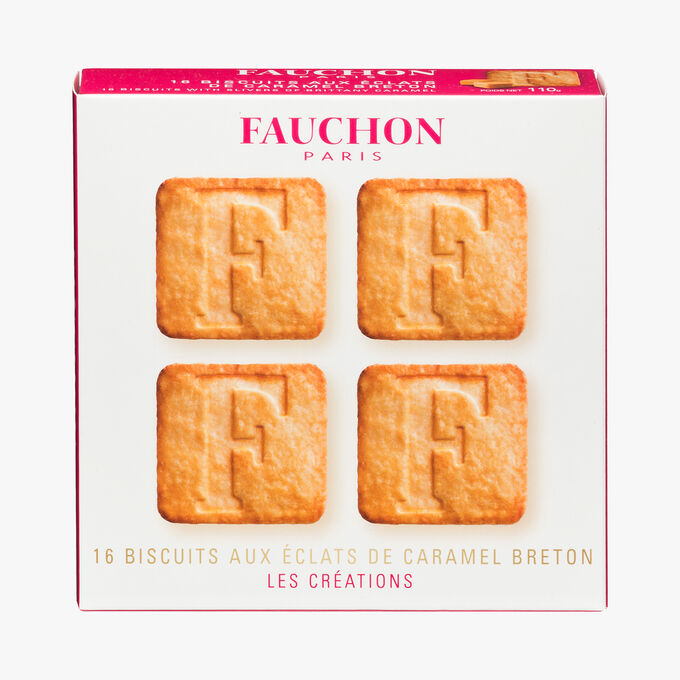 16 biscuits with Breton caramel chips Fauchon