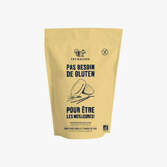 Gluten-free organic mix for vanilla madeleines and chia seeds Fay Maison
