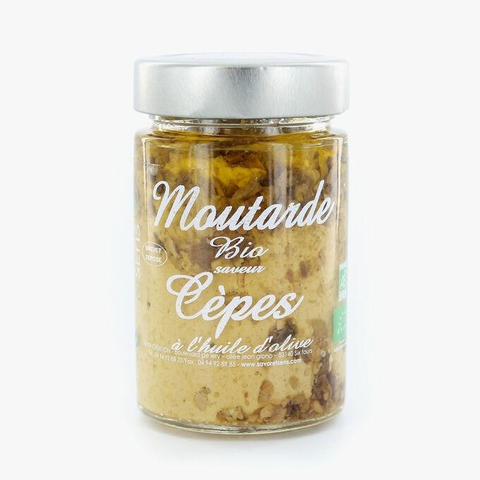Moutarde bio saveur cèpe à l'huile d'olive Savor & Sens