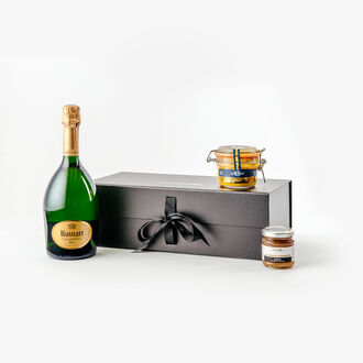 Champagne and foie gras gift box null