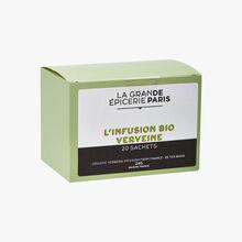 Organic verbena herbal infusion 20 sachets La Grande Épicerie de Paris