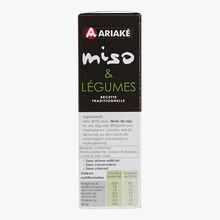 Soupe instant Miso & légumes Ariaké