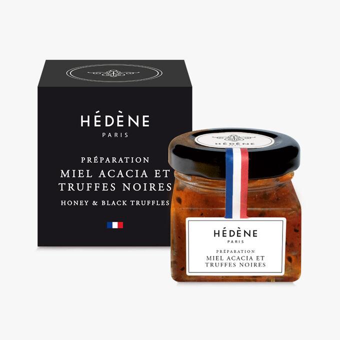 Préparation de Miel d'acacia et truffes noires Hédène