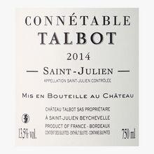 Connétable Talbot, PDO Saint-Julien, 2014 Connétable Talbot