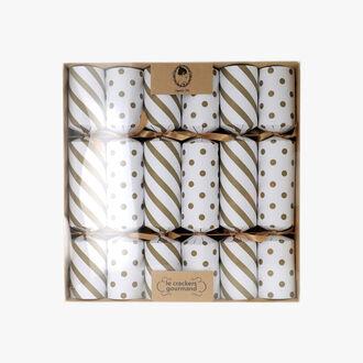 6 crackers or et blanc Sophie M