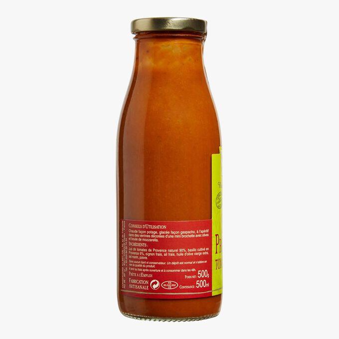 Soupe provençale tomates et basilic Au Bec Fin