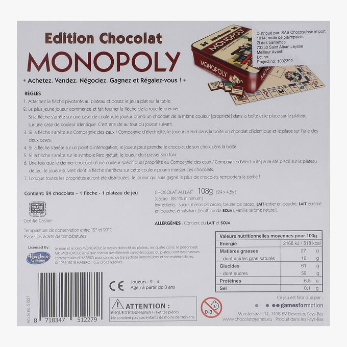 Chocolate Monopoly Chocosuisse Import