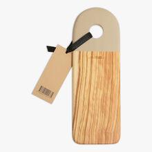 Camargue olive wood chopping board, clay La Grande Épicerie de Paris