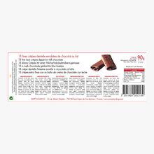 Crepes dentelles (crispy crepe rolls) - milk chocolate Maxim's