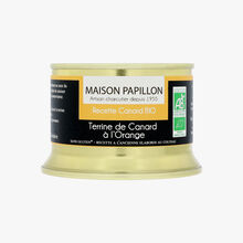 Organic duck terrine with orange Maison Papillon
