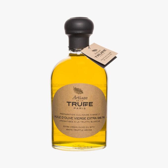Préparation culinaire à base d'huile d'olive vierge extra aromatisée à la truffe blanche Artisan de la truffe