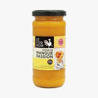 Mango-passion fruit coulis  Le Coq Noir