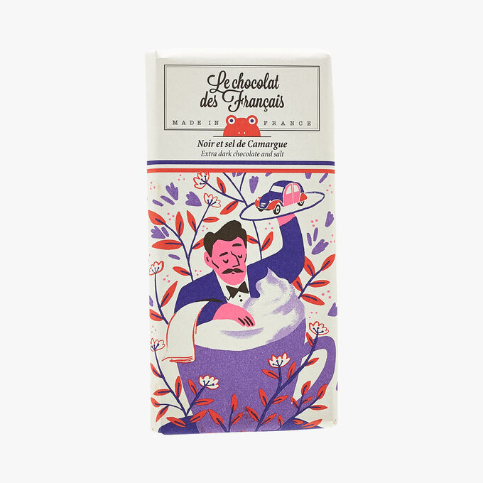 Noir et sel de Camargue - Illustration Kei Le Chocolat des Français