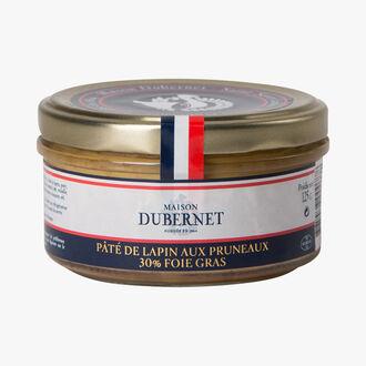 Rabbit and prune pâté 30 % foie gras Maison Dubernet