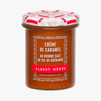 Salted butter caramel cream with Guérande salt Albert Ménès